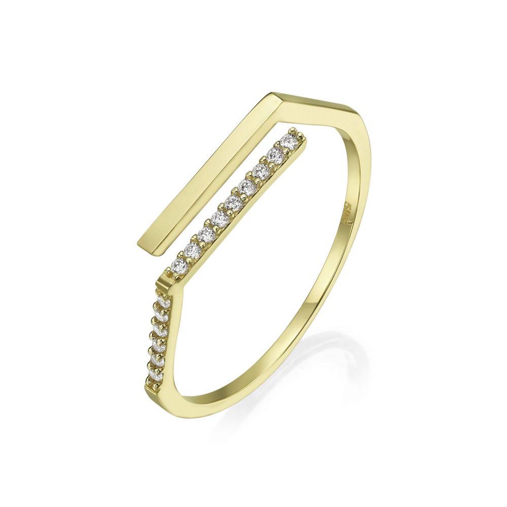 טבעות זהב | טבעת פתוחה מזהב צהוב 14 קראט - לוריאן