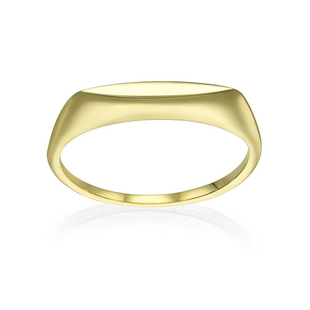 תכשיטי זהב לנשים | טבעת מזהב צהוב 14 קראט - מונקו