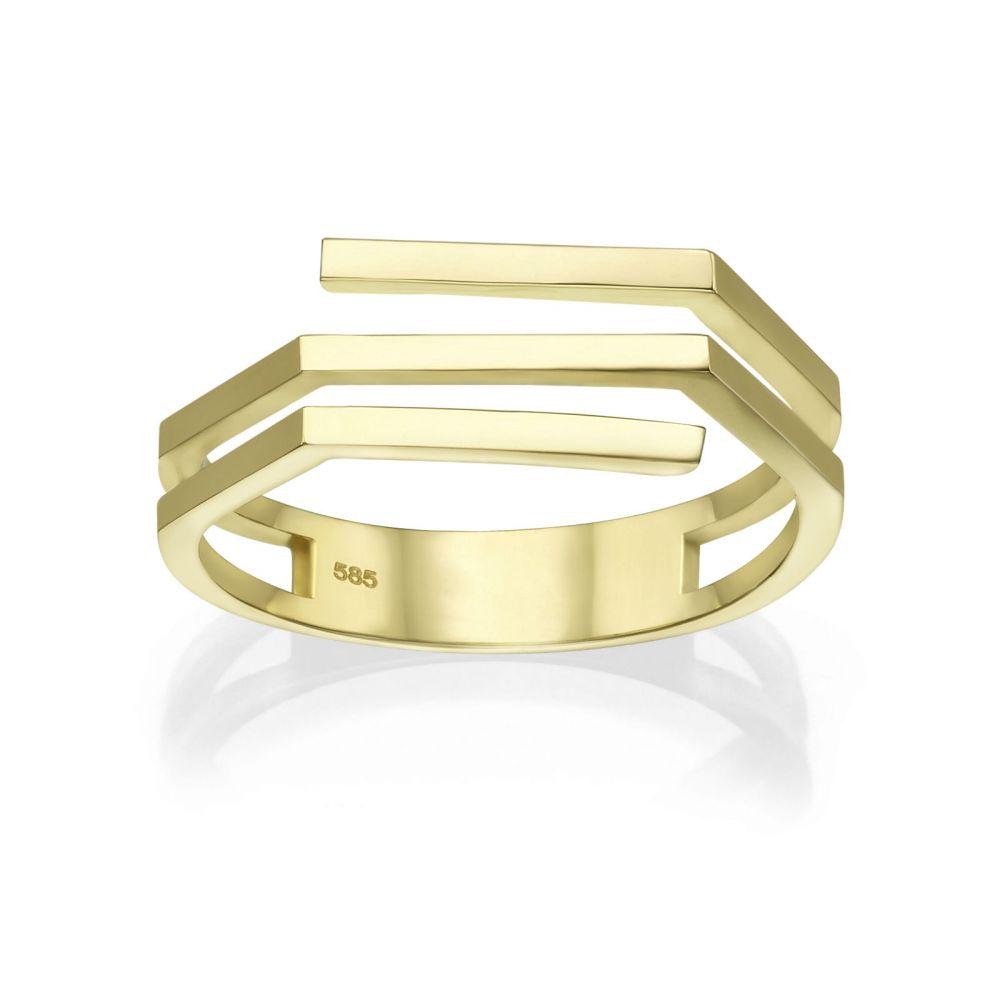 תכשיטי זהב לנשים | טבעת מזהב צהוב 14 קראט - אלין