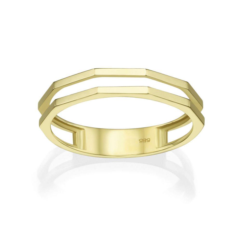 תכשיטי זהב לנשים | טבעת מזהב צהוב 14 קראט - מילאן