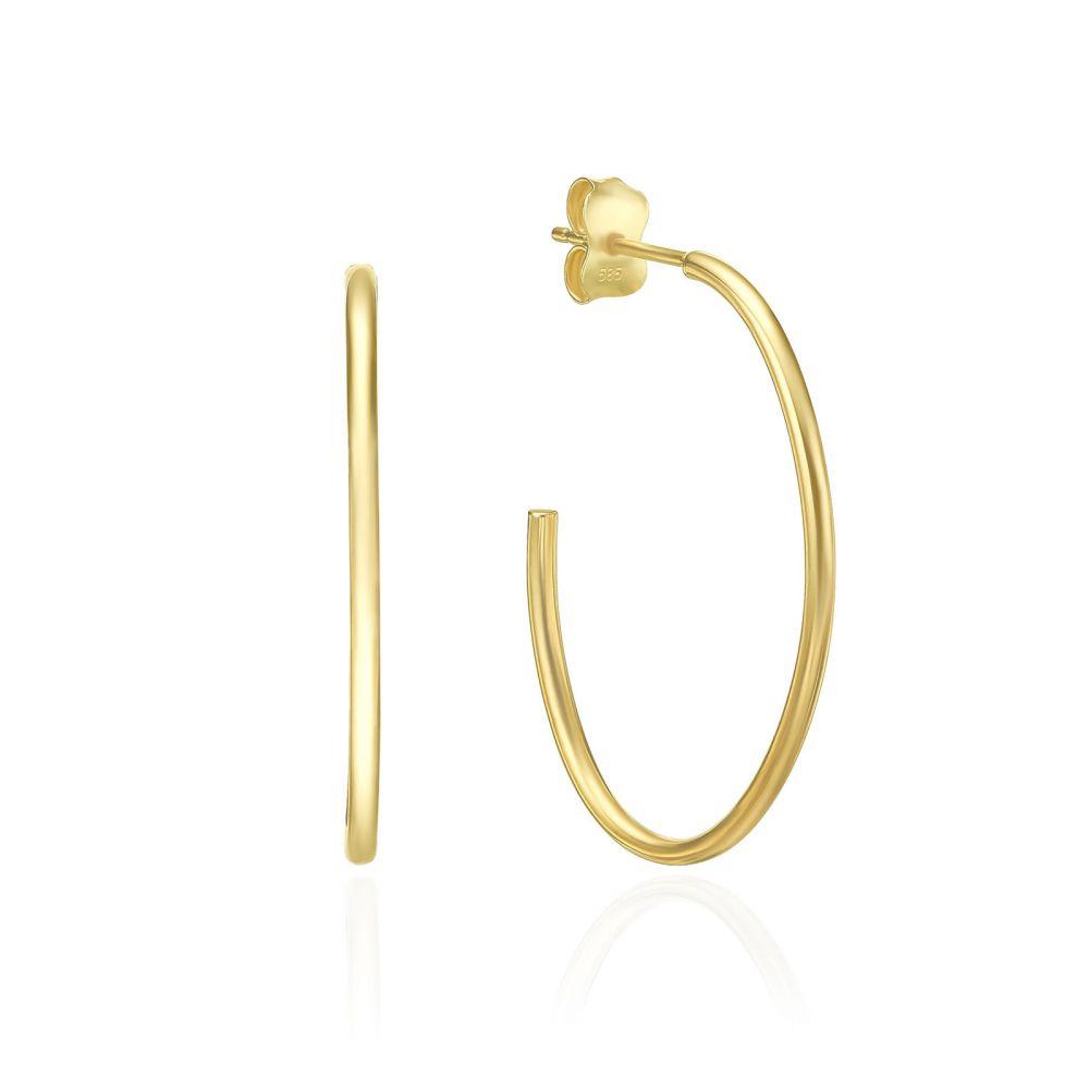 עגילי זהב | עגילים מזהב צהוב 14 קראט - ריו