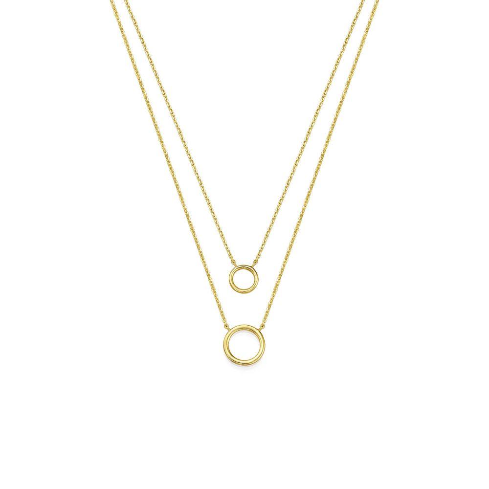 תכשיטי זהב לנשים | שרשרת ותליון מזהב צהוב 14 קראט - ליבי