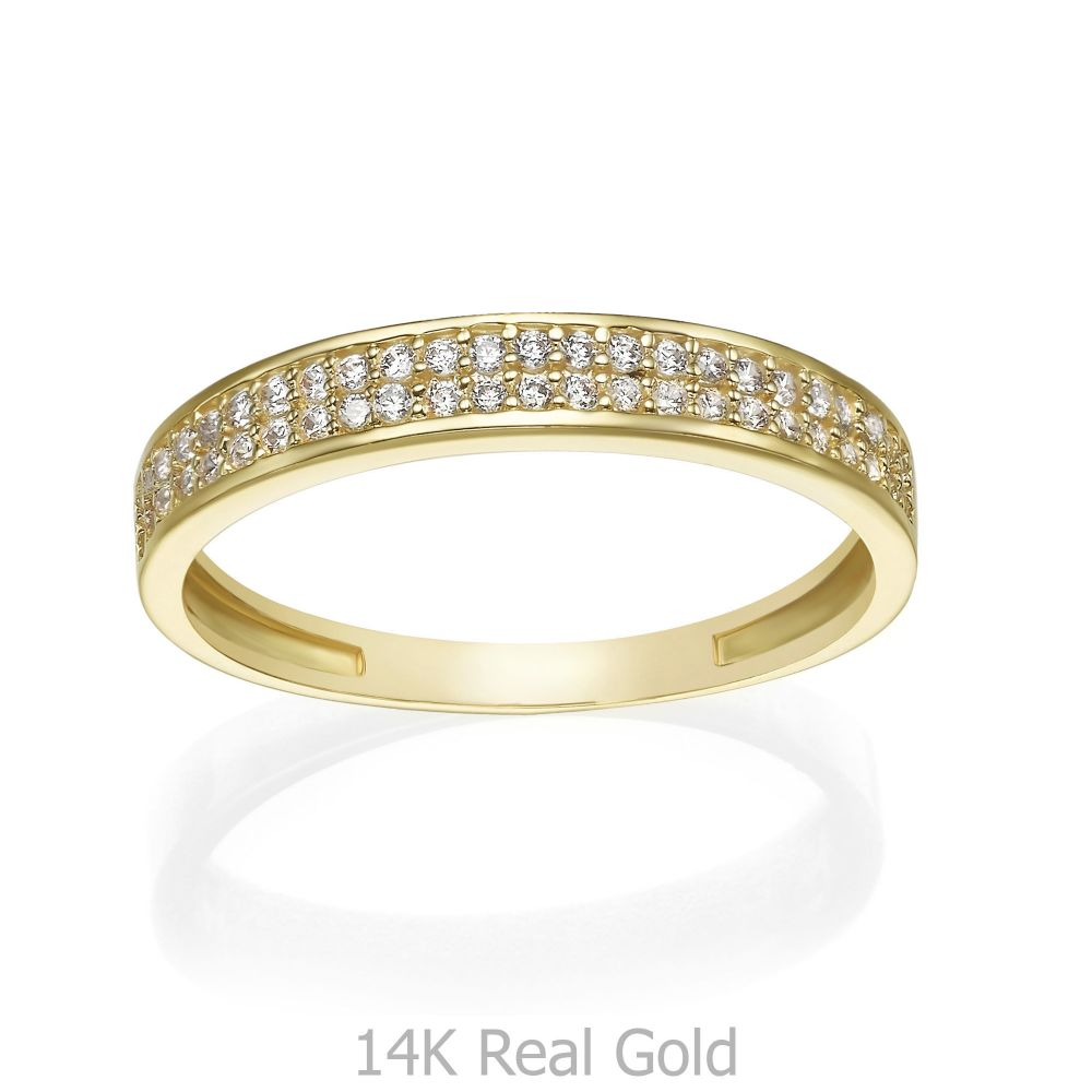טבעות זהב   טבעת מזהב צהוב 14 קראט - מריאן
