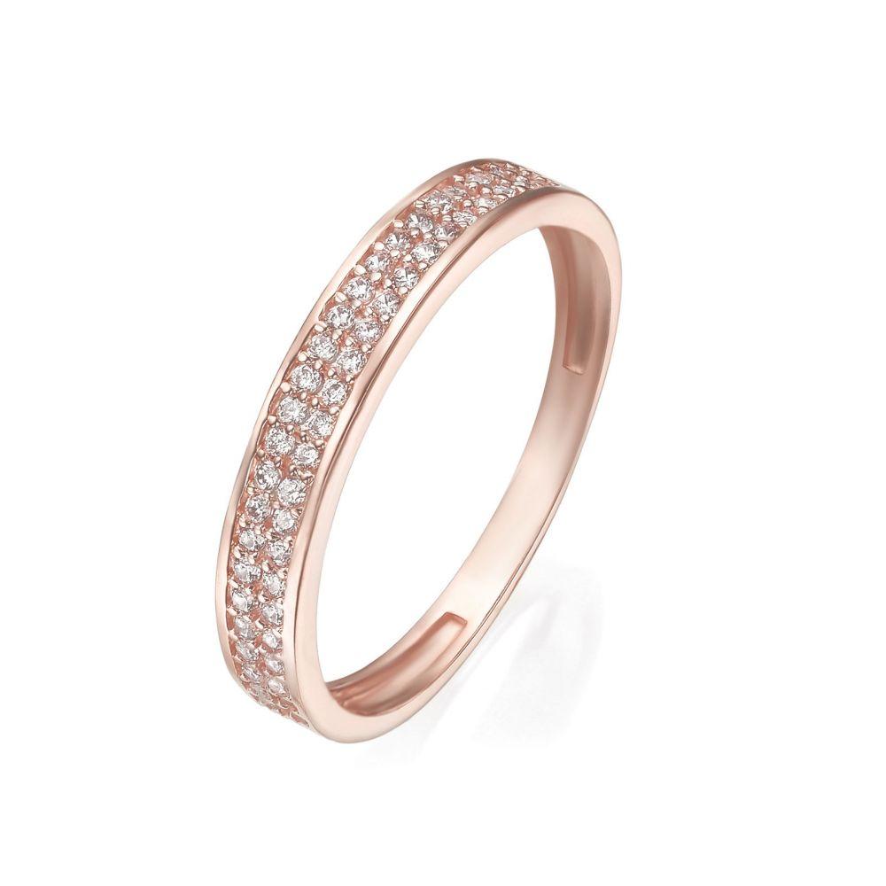 טבעות זהב | טבעת מזהב ורוד 14 קראט - מריאן