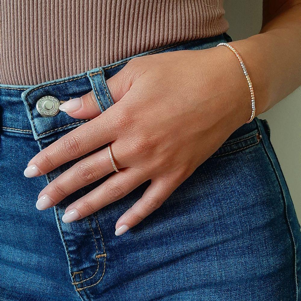 תכשיטי זהב לנשים | צמיד לאישה מזהב 14 קראט - כדורים