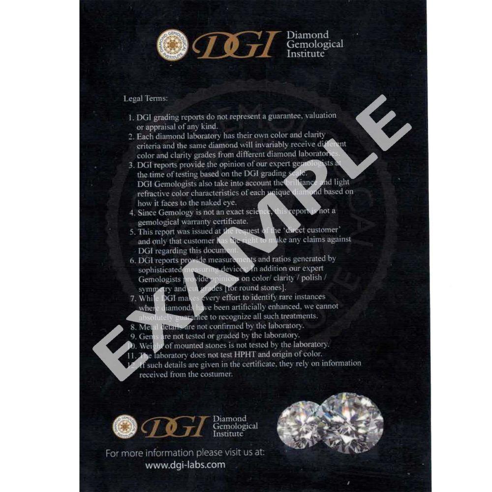 תכשיטי יהלומים | עגילי חישוק יהלומים מזהב לבן 14 קראט - ליידי L