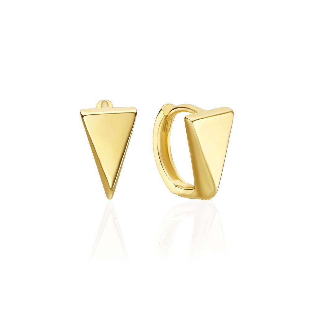 תכשיטי זהב לנשים | עגילי חישוק מזהב צהוב 14 קראט - לונדון