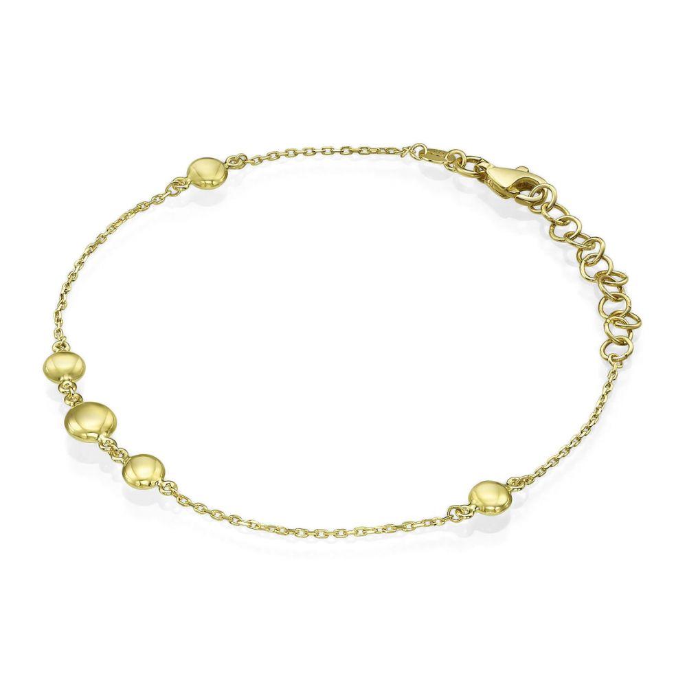 תכשיטי זהב לנשים | צמיד לאישה מזהב צהוב 14 קראט - אוליביה