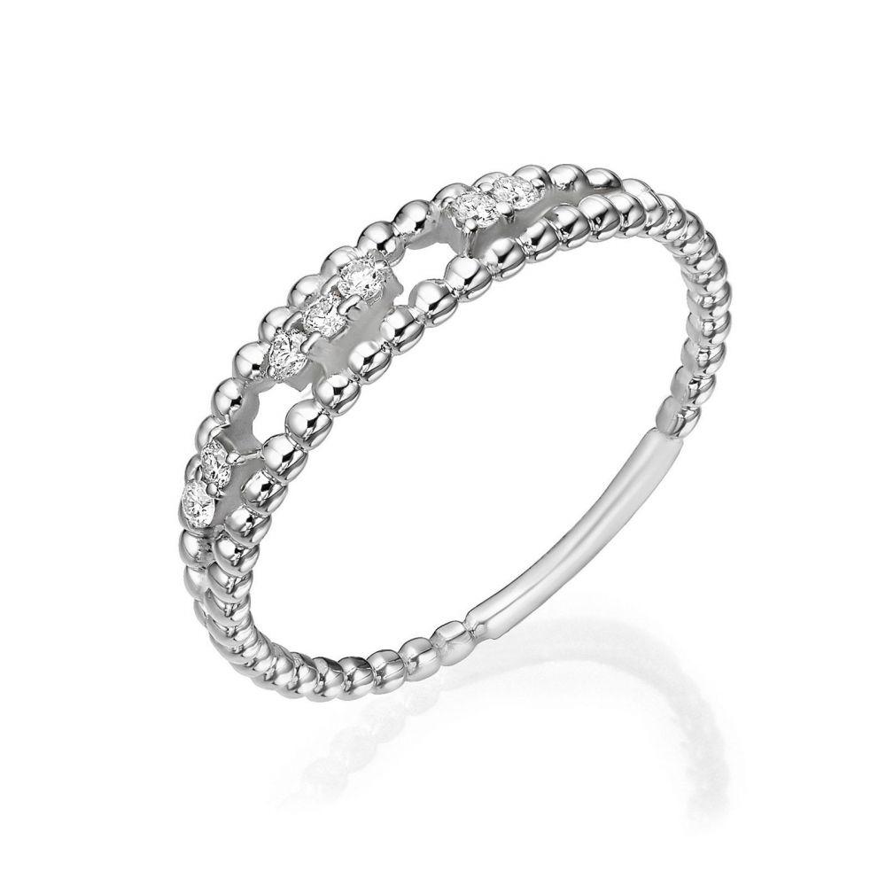 תכשיטי יהלומים | טבעת יהלום מזהב לבן 14 קראט - קיילי