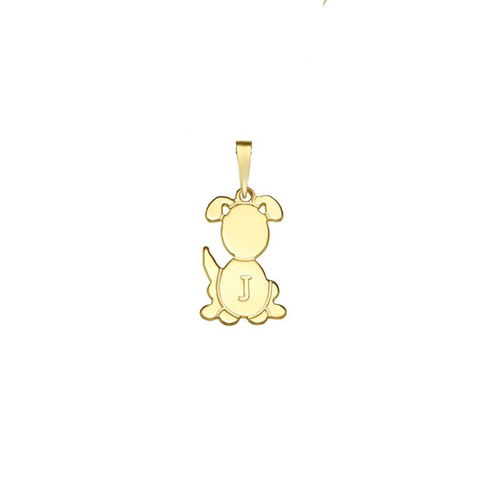 שרשראות בעיצוב אישי | תליון מזהב צהוב 14 קראט - תליון כלב ריי
