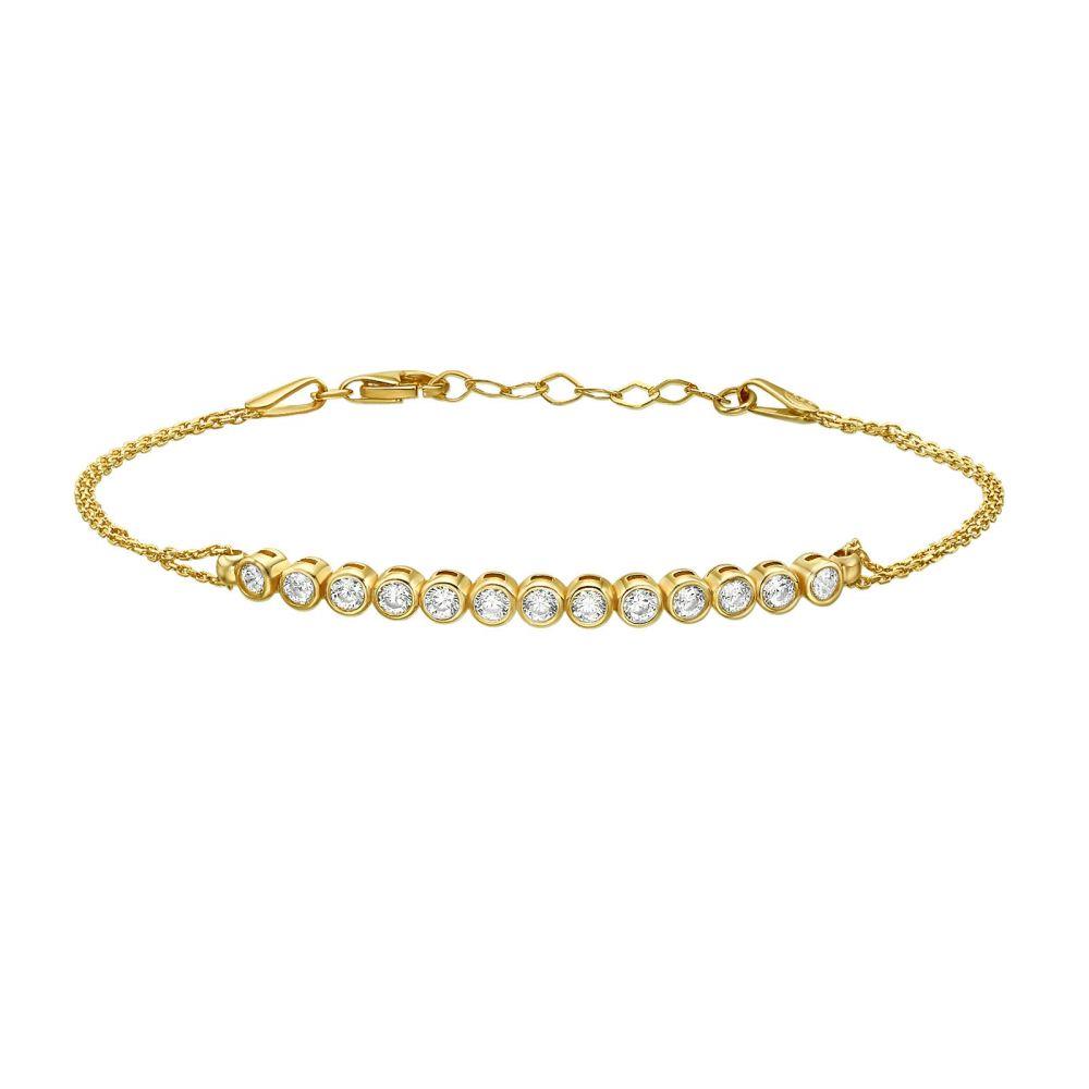 תכשיטי זהב לנשים | צמיד לאישה מזהב צהוב 14 קראט - פייטון