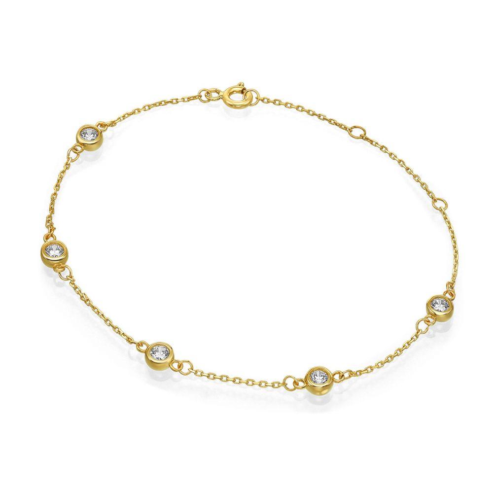 תכשיטי זהב לנשים | צמיד לאישה מזהב צהוב 14 קראט - בלייק