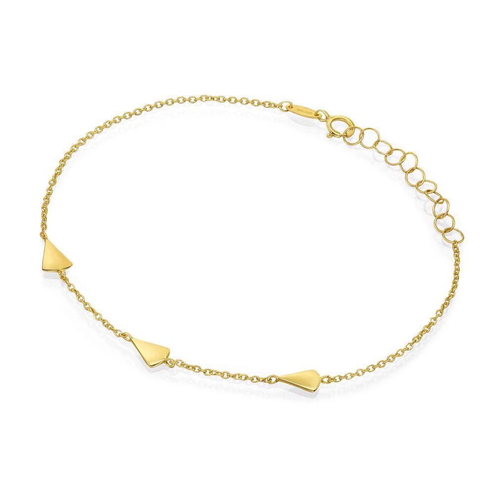 תכשיטי זהב לנשים | צמיד לאישה מזהב צהוב 14 קראט - קיילי