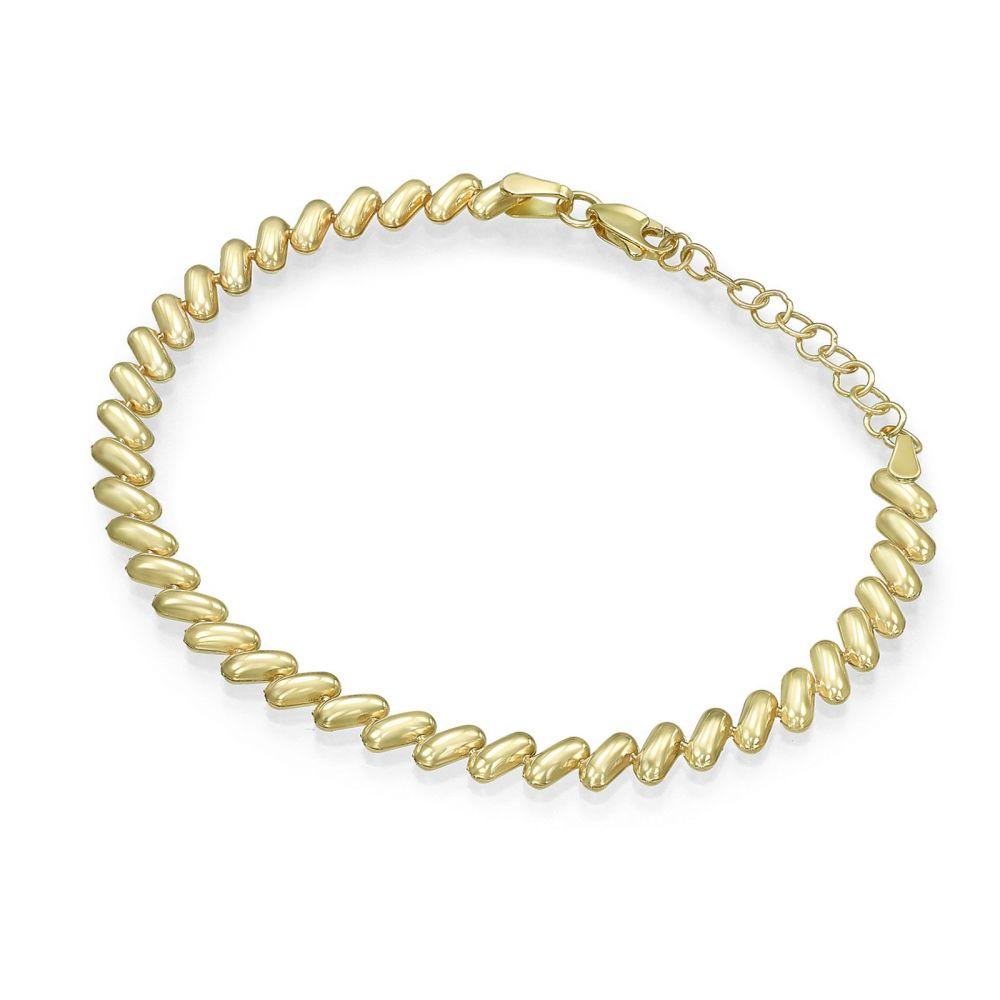 תכשיטי זהב לנשים | צמיד לאישה מזהב צהוב 14 קראט - הוואי