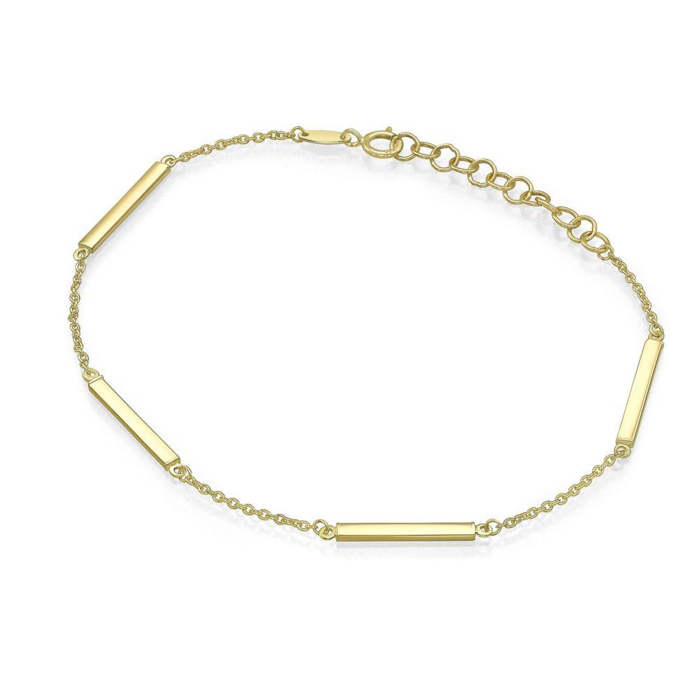תכשיטי זהב לנשים | צמיד לאישה מזהב צהוב 14 קראט - ריינבו