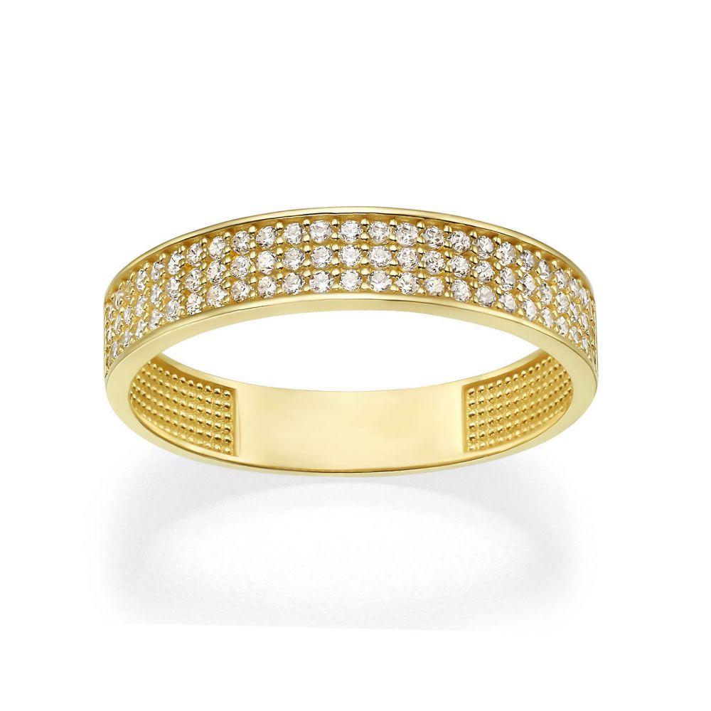תכשיטי זהב לנשים | טבעת מזהב צהוב 14 קראט - קלייר