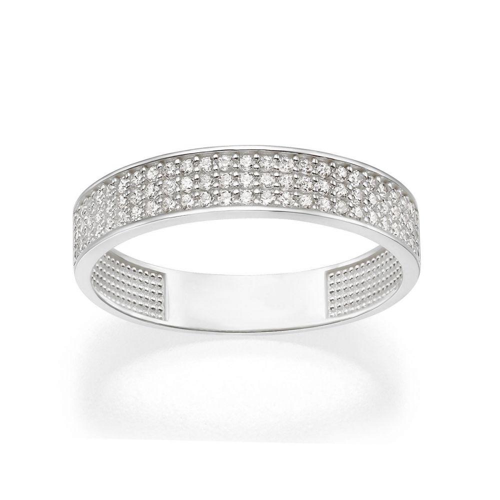 תכשיטי זהב לנשים | טבעת מזהב לבן 14 קראט - קלייר