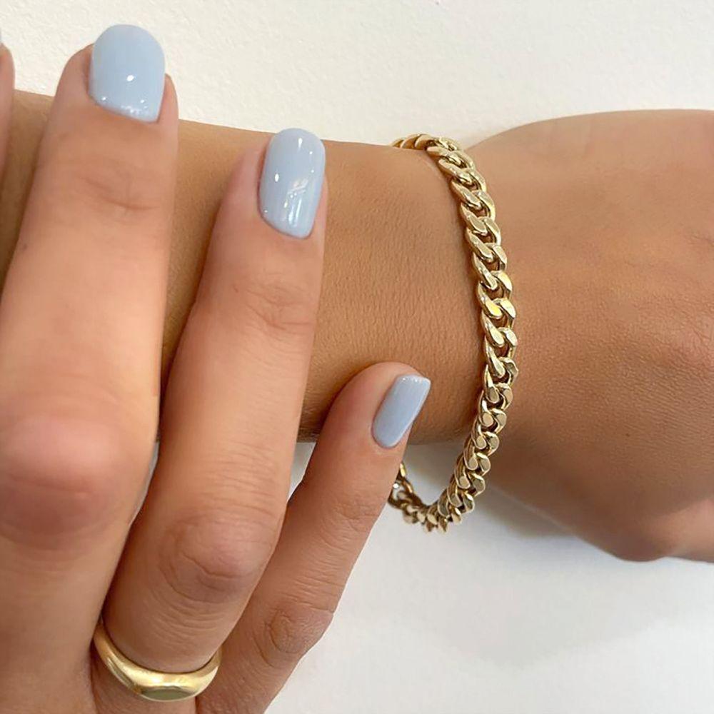 תכשיטי זהב לנשים | צמיד לאישה מזהב צהוב 14 קראט - צמיד חוליות
