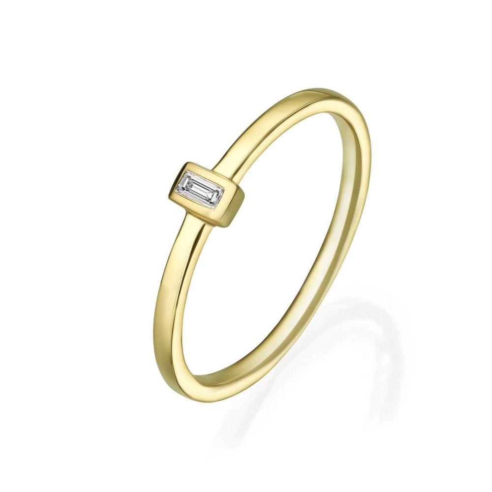 תכשיטי יהלומים | טבעת יהלומים מזהב צהוב 14 קראט - טאי