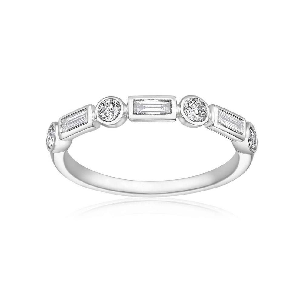 תכשיטי יהלומים | טבעת יהלומים מזהב לבן 14 קראט - רנה