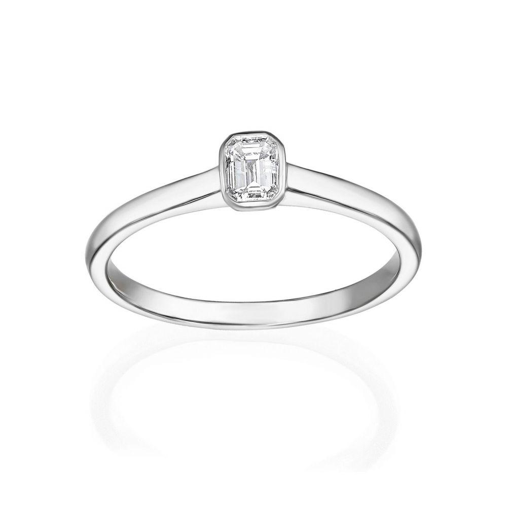 תכשיטי יהלומים | טבעת יהלומים מזהב לבן 14 קראט - סקיי