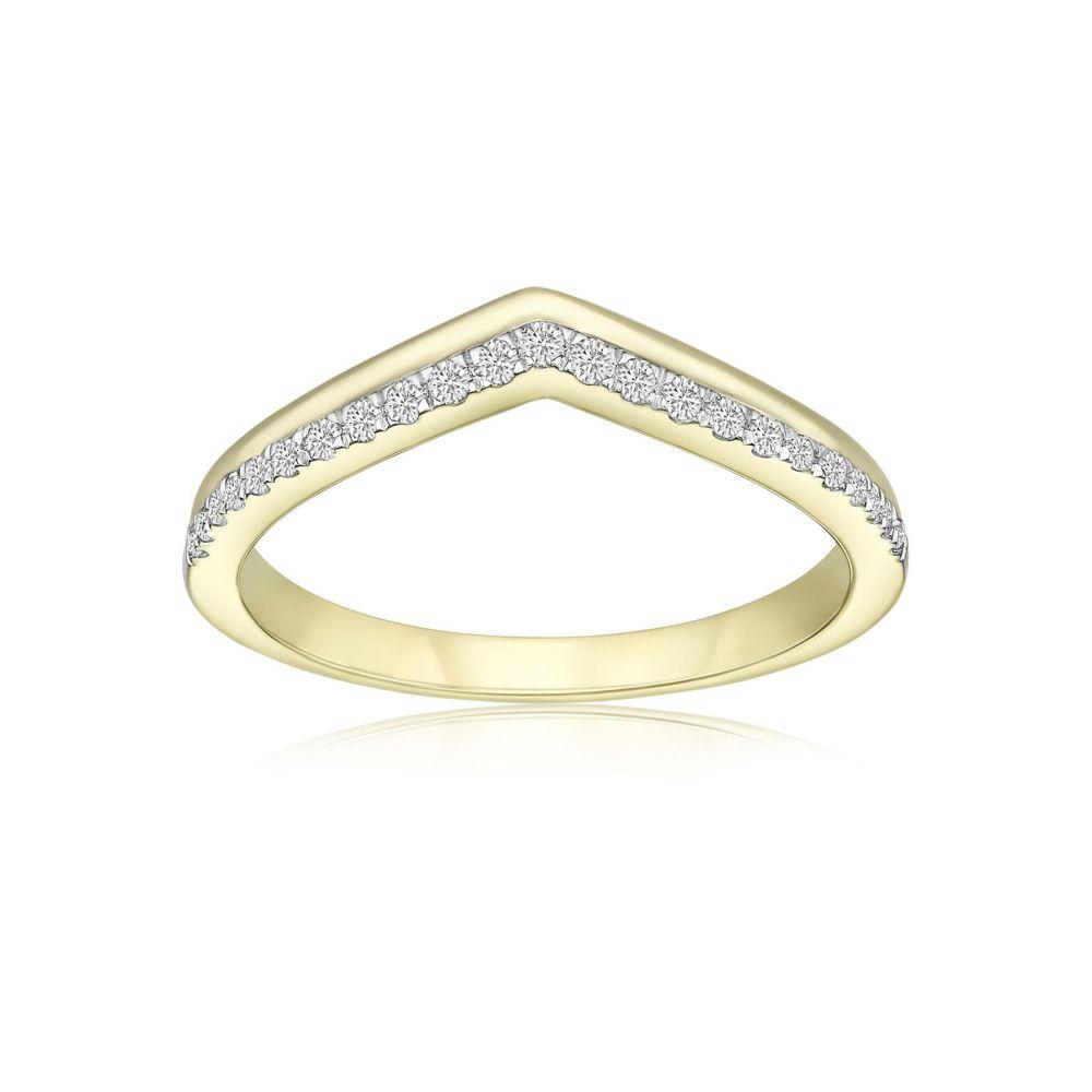 תכשיטי יהלומים | טבעת יהלומים מזהב צהוב 14 קראט - ריילי