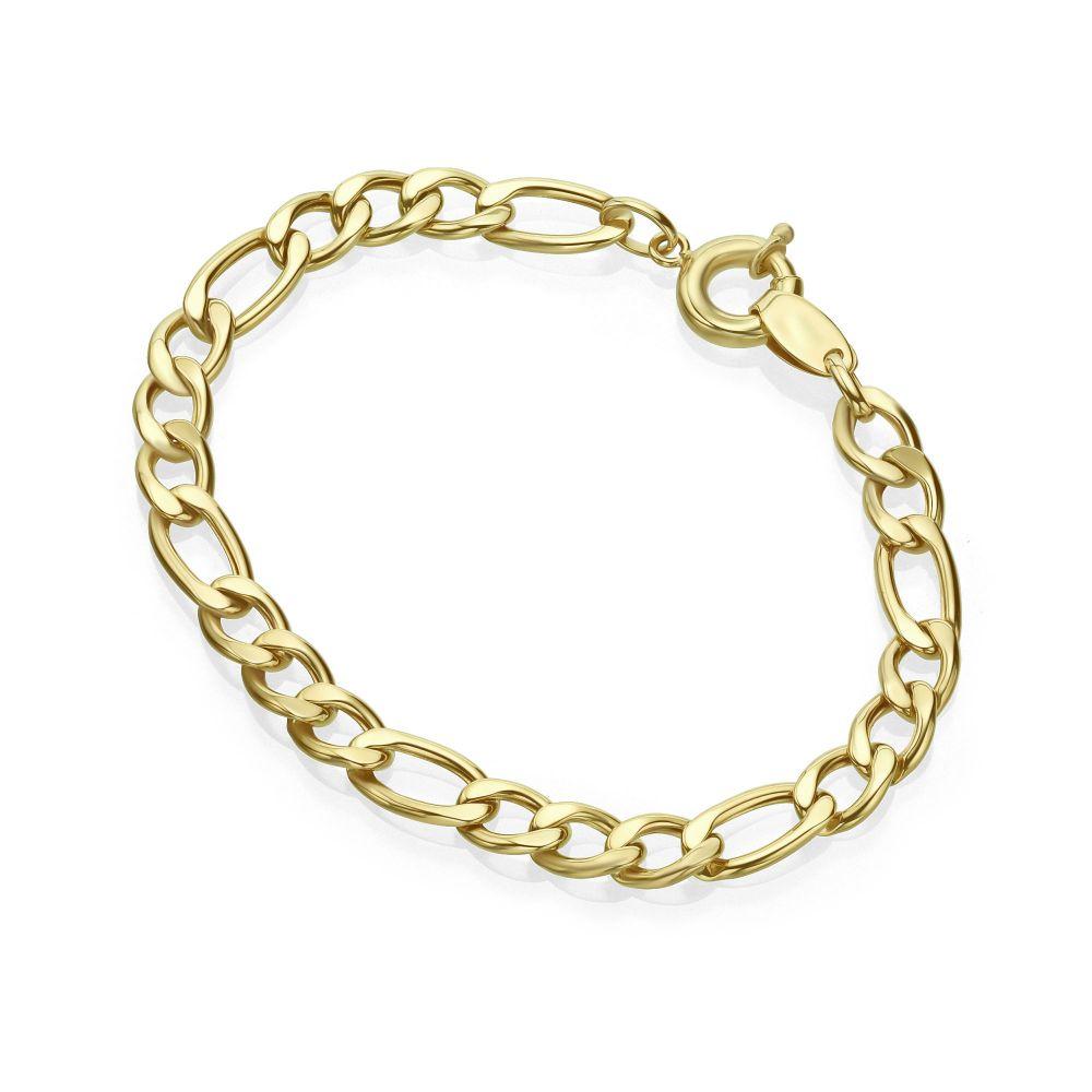 תכשיטי זהב לנשים | צמיד לאישה מזהב צהוב 14 קראט - פיגרו