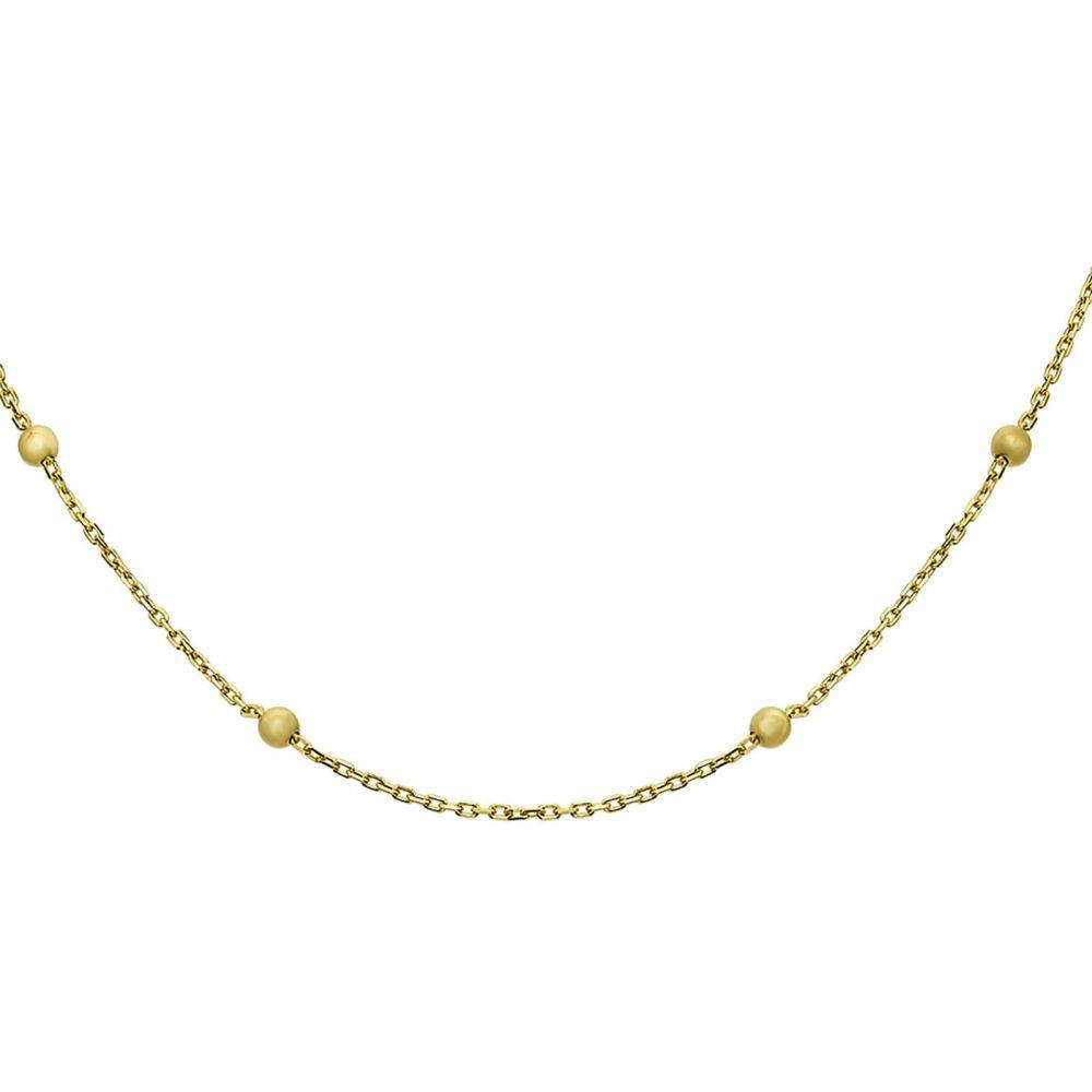 שרשראות זהב | שרשרת לאישה לאישה מזהב צהוב 14 קראט - ג'סמין