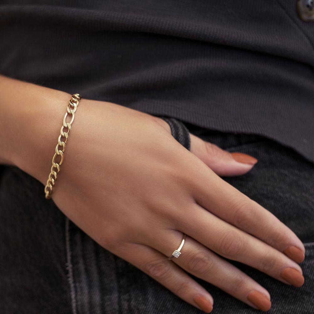 תכשיטי יהלומים   טבעת יהלומים מזהב לבן 14 קראט - קאיה
