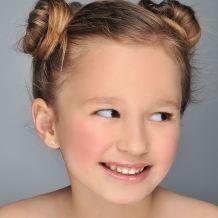 עגילי זהב צמודים -  כוכב מלבב
