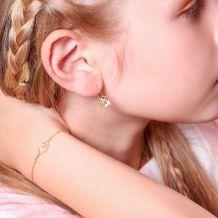 צמיד זהב לילדה - עין טובה