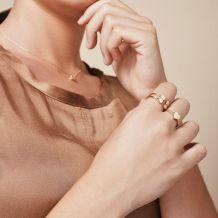 טבעת מזהב צהוב 14 קראט - לב מלא