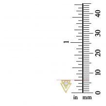 עגילים צמודים מזהב צהוב 14 קראט - פירמידות