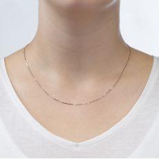 """שרשרת ונציה זהב לבן 0.53 מ""""מ עובי, 40 ס""""מ אורך"""
