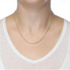 """שרשרת חבל זהב צהוב 1.4 מ""""מ עובי, 45 ס""""מ אורך"""