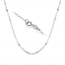 """שרשרת פורצטה זהב לבן 1.35 מ""""מ עובי, 45 ס""""מ אורך"""