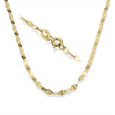 """שרשרת פורצטה זהב צהוב 2.4 מ""""מ עובי, 45 ס""""מ אורך"""