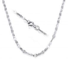"""שרשרת פורצטה זהב לבן 2.4 מ""""מ עובי, 45 ס""""מ אורך"""