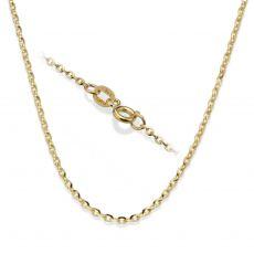 """שרשרת רולו זהב צהוב 1.6 מ""""מ עובי, 42 ס""""מ אורך"""