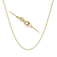 """שרשרת מסובבת זהב צהוב 0.6 מ""""מ עובי, 42 ס""""מ אורך"""