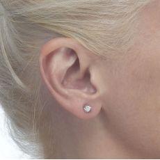 עגילי זהב צמודים -  עיגול קטיה
