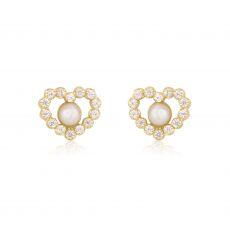 עגילי זהב צמודים -  פנינה מרלין