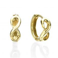 עגילי זהב תלויים - פרימדונה
