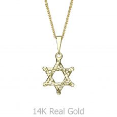 תליון זהב- מגן דוד ציון