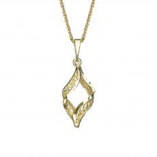 תליון זהב- מעוין נוצץ