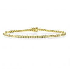 צמיד טניס יהלומים פירמידה זהב צהוב - קייט
