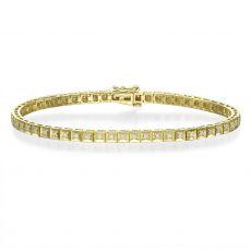 צמיד טניס יהלומים שוקולד זהב צהוב - ג'ניפר