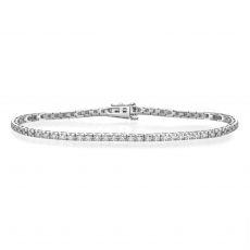צמיד טניס יהלומים פירמידה זהב לבן - קייט