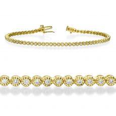 צמיד טניס יהלומים מילנו זהב צהוב - שרלוט