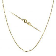 """שרשרת סינגפור זהב צהוב 1.2 מ""""מ עובי, 42 ס""""מ אורך"""